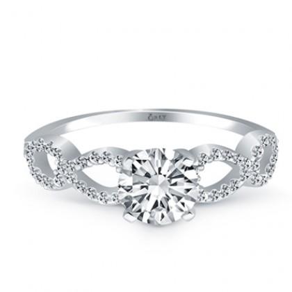 Round Brilliant Cut Diamond Infinity Engagement Ring