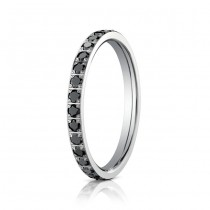14kw Black Diamond Eterntiy Band 2mm