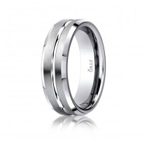 6mm Single Cut Brushed & Polished Finish Carved Band