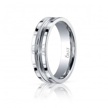 6mm Single Cut Polished Finish Carved Band