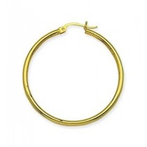 HOOP EARRINGS POLISHED 35MM