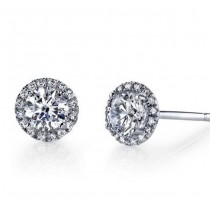 18k White Gold Orstar Diamond Studs