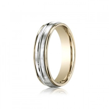 6mm Two Texture Two Tone Spin Cut Band