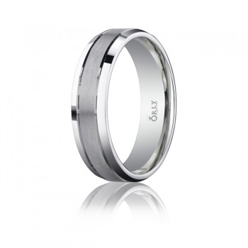 6mm Brushed & Polished Finish Carved Band