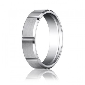 Brushed Knotched Comfort Fit Band