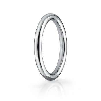2mm Polished Finish Round Carved Band