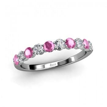 Diamonds and Pink Sapphires Band